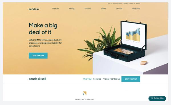Zendesk Sell - автоматизированная CRM система